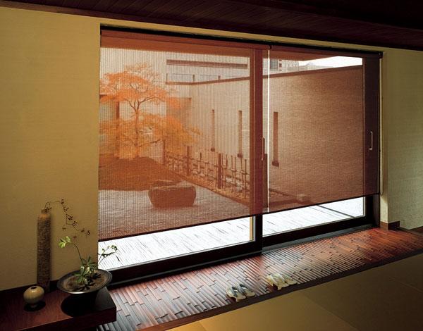 ロールスクリーン ニチベイ 長月・木染月 竹経木 ロールカーテン 幅251~270cm×丈10~80cm