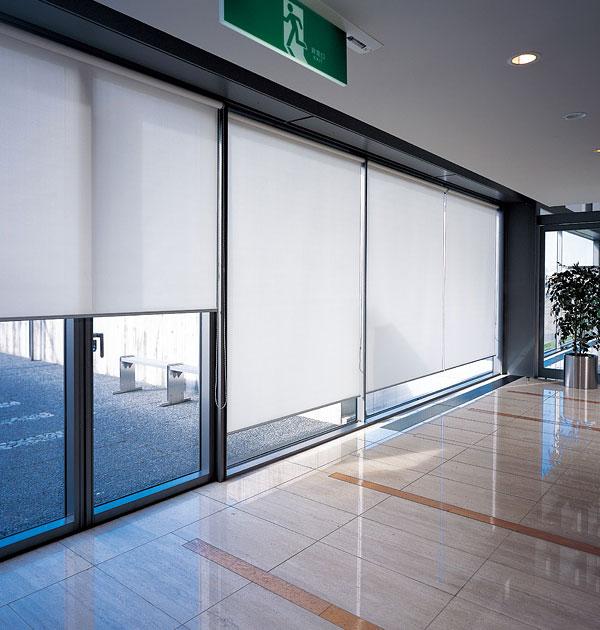 ロールスクリーン ニチベイ 平織りミディアム ロールカーテン 幅161~200cm×丈351~400cm
