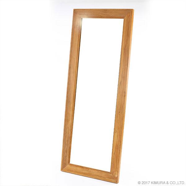 【送料無料】【チーク】ウォールミラー(70×180cm)/家具 インテリア ウォールミラー スタンドミラー 姿見 全身鏡 壁立て掛け式 チーク 無垢 木製 リビング 玄関 寝室 北欧 ナチュラル カントリー 大型