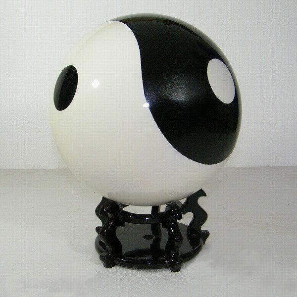 【太極拳】【太極球】樹脂実心太極球・空心太極球 黒色