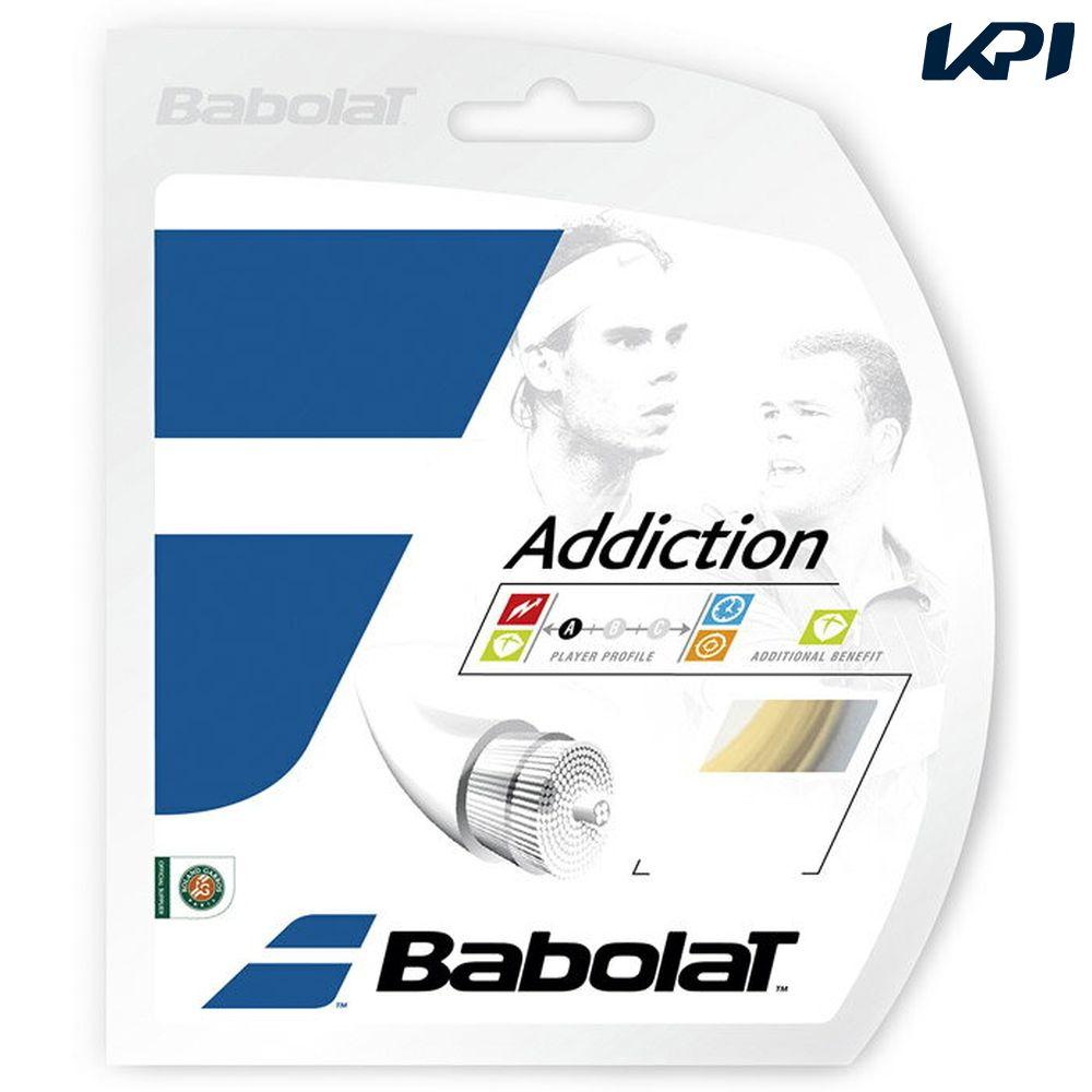 「■5張セット」BabolaT(バボラ)「Addiction(アディクション)125/130/135 BA241115」硬式テニスストリング(ガット)【店頭受取対応商品】