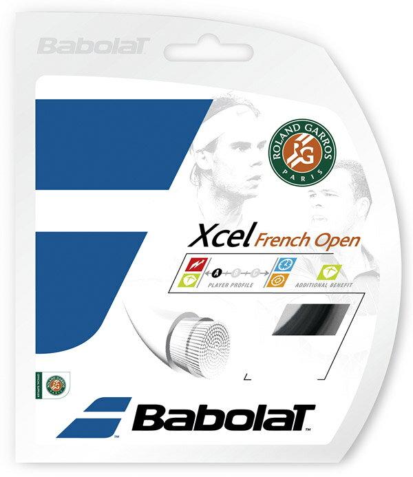 「あす楽対応」 「■5張セット」BabolaT(バボラ)「Xcel French Open(エクセル フレンチオープン)125/130/135 BA241111」硬式テニスストリング(ガット)『即日出荷』