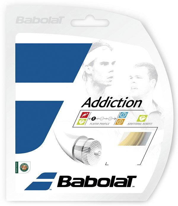 「■5張セット」BabolaT(バボラ)「Addiction(アディクション)125/130/135 BA241115」硬式テニスストリング(ガット)
