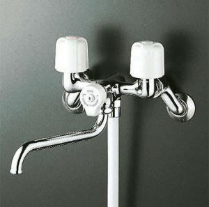 【KVK KF100N2】一時止水付2ハンドルシャワー 浴室 シャワー 蛇口