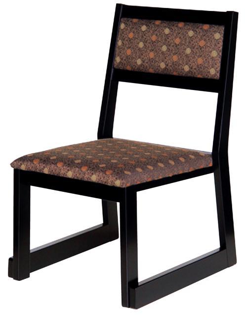 高座椅子/座椅子 H型 黒塗布大和紋44×50×H71(SH35)cm(※大型家具扱送料別途見積となります)