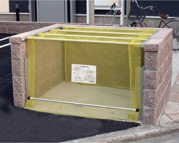 CKA-1612 ゴミ収納庫クリーンストッカー CKA型ネットタイプ【ダイケン】