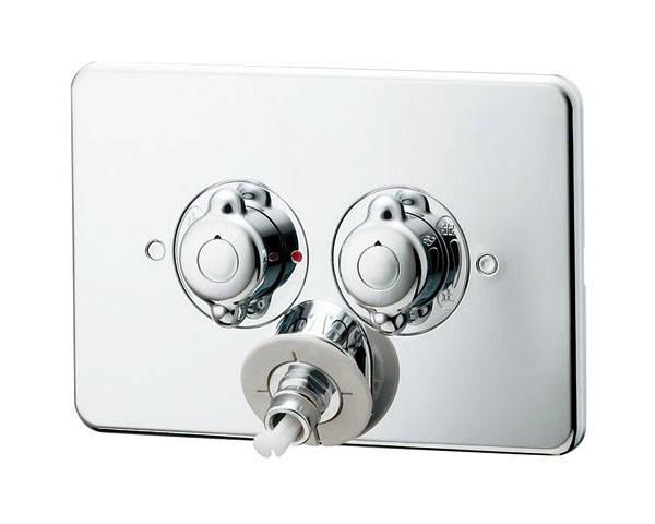 洗濯機用混合栓天井配管用 127-103K【カクダイ】