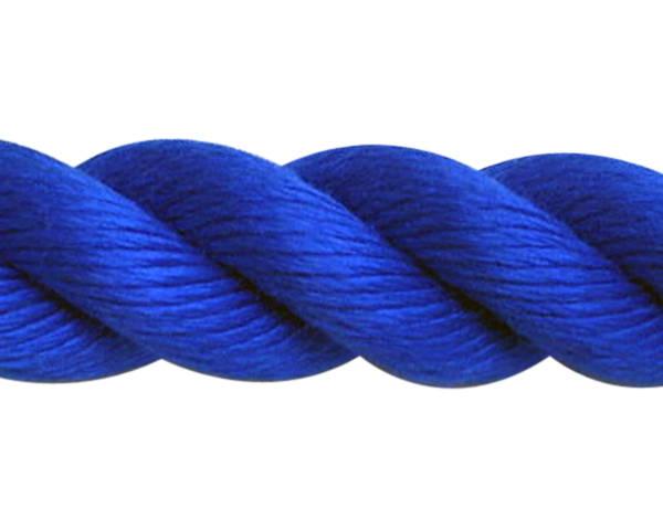 スパンシーカラーロープ30ミリ(青) 30M ドラム巻 PPスパン