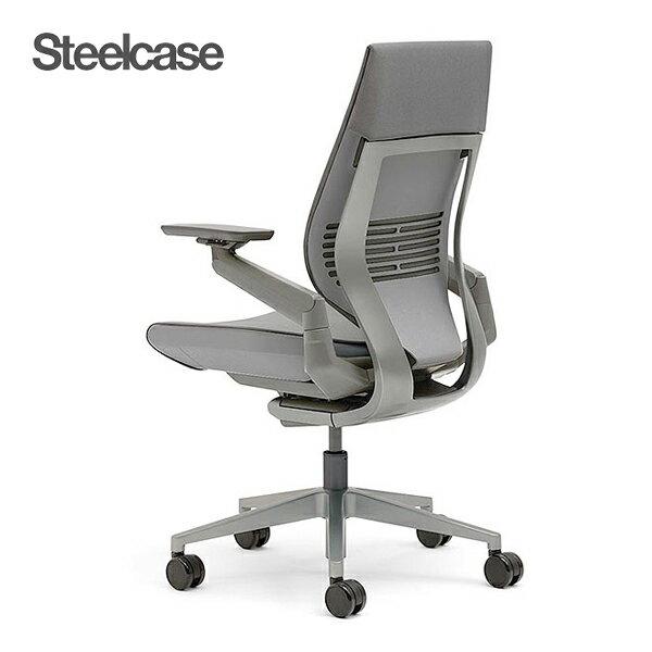 【勝ち組チェア】Steelcase Gesture ジェスチャー ラップバック型 ダークシェル/ダークフレーム スチールケース オフィスチェア  肘付き 座面クロス 360度可動アーム パソコンチェア リクライニング 腰痛 疲れにくい おしゃれ くろがねっと 442A40DD