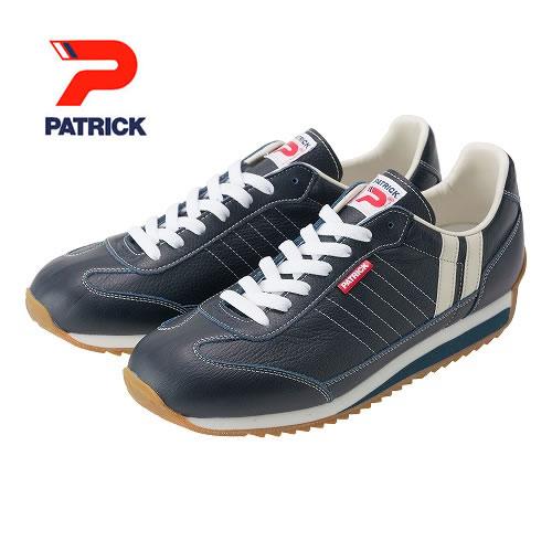 PATRICK パトリック メンズ レディース スニーカー 靴 マラソン レザー MARATHON-LEATHER  ネービー (98902)