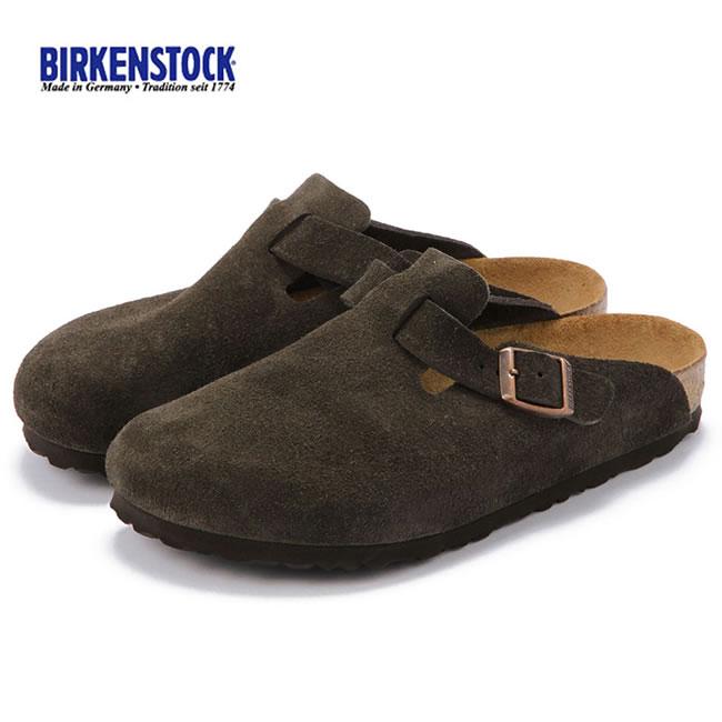 【大人気クロッグ!!】BIRKENSTOCK BOSTON ビルケンシュトック ボストン モカ ブラウン スエード レディース シューズ 靴 サンダル クロッグ(060901)