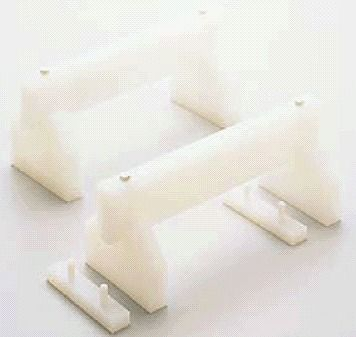【まな板小物】【送料無料】プラスチック 高さ調節付まな板用脚(2ヶ1組)全長:50cm 高さ:200mm (6-0347-0308)