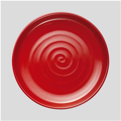 【Daiwa|プラスチック食器|メラミン製|業務用食器|社員食堂|学食|飲食店】【10個セット/10個以上端数注文可】丸そば皿 内朱外黒(Φ230×H24mm) (台和)[DMS-10-RB]
