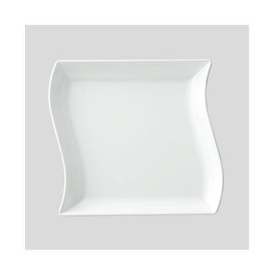 【Daiwa プラスチック食器 メラミン製 業務用食器 皿 社員食堂 学食 飲食店】【10個セット/10個以上端数注文可】ウィンプレート 白(210×190×H27mm・520ml) (台和)[SS-27-W]