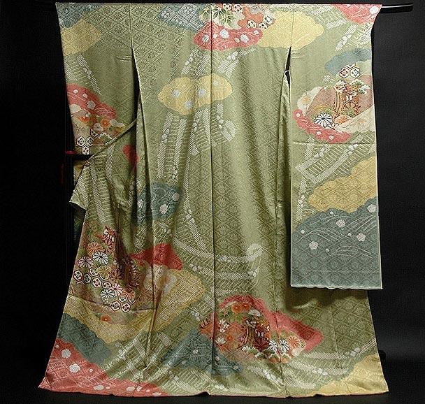 ■手縫いお仕立て付き 「松井青々調」 染め分けボカシ 絞り入り 地紋 振袖■