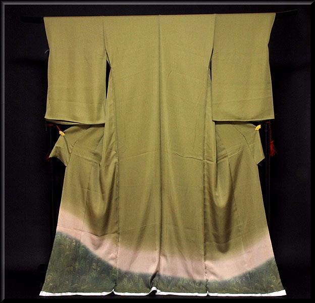【手縫い仕立て付き】 ボカシ染め シックでモダンな 色留袖