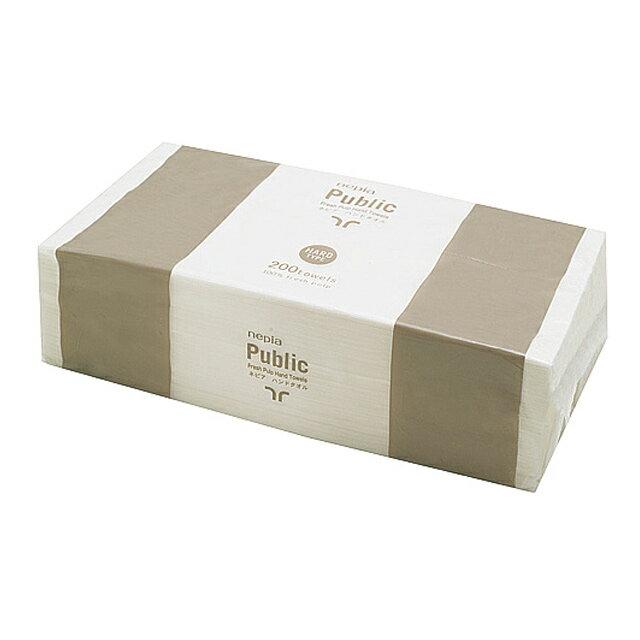 ○お取り寄せ商品 送料無料 ネピア ハンドタオル 200枚 200枚入り×30パック×10ケース 73575