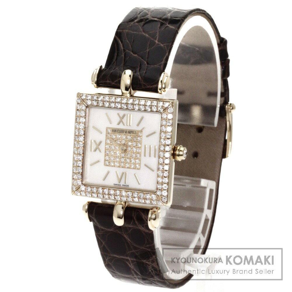Van Cleef & Arpels【ヴァンクリーフ&アーペル】 ダイヤモンド 腕時計 K18イエローゴールド/アリゲーター レディース 【中古】