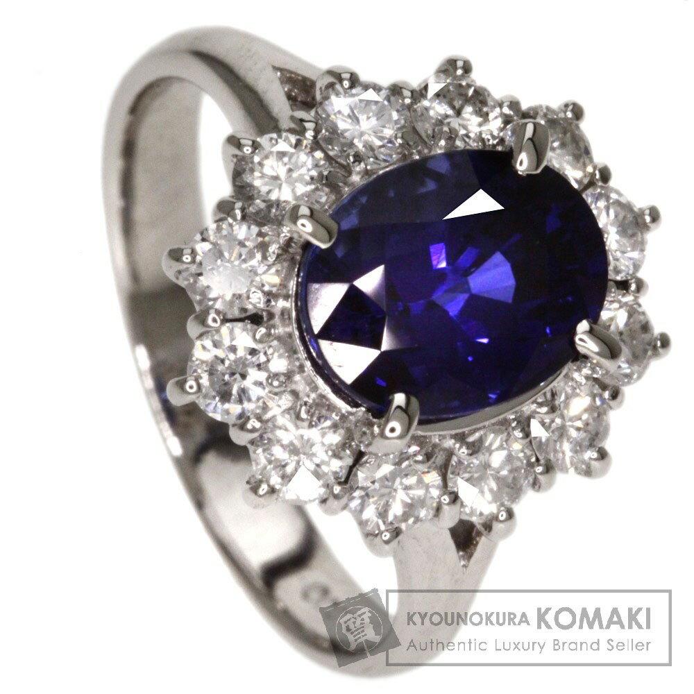 2.55ct サファイヤ/ダイヤモンド リング・指輪 プラチナPT900 6.6g レディース 【中古】