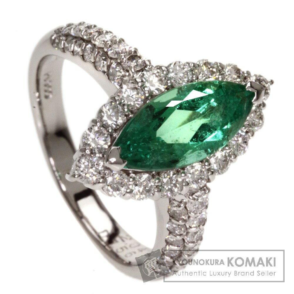 2.04ct エメラルド/ダイヤモンド リング・指輪 プラチナPT900 8.6g レディース 【中古】