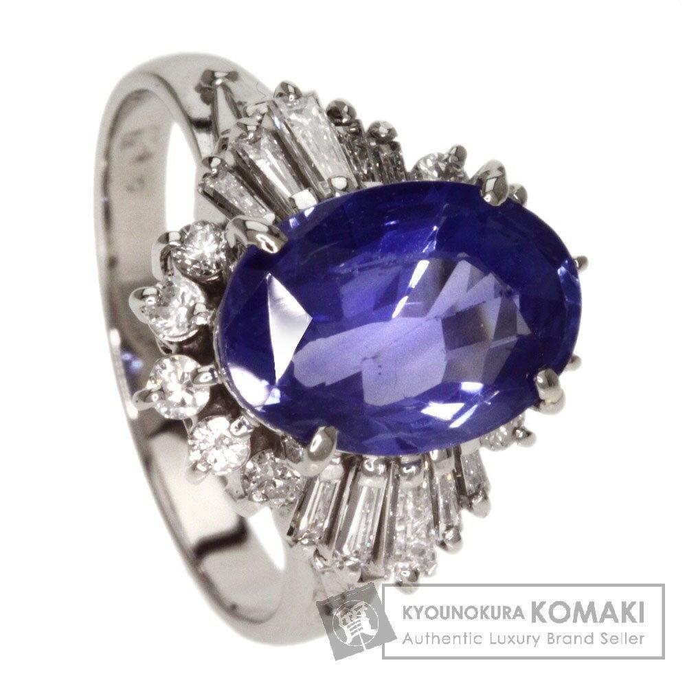 3.37ct サファイア/ダイヤモンド リング・指輪 PM プラチナ 6g レディース 【中古】