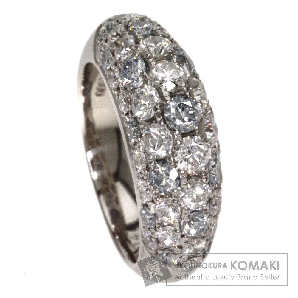 0.79ct ブルーダイヤモンド/ダイヤモンド リング・指輪 プラチナPT900 9g レディース 【中古】
