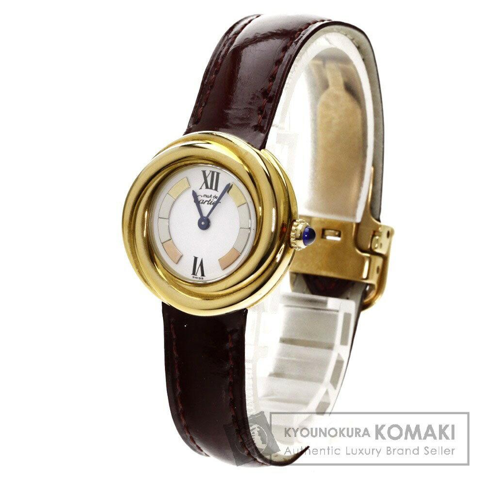 CARTIER トリニティ 腕時計 シルバー/革 レディース 【中古】【カルティエ】