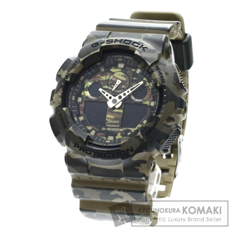 CASIO GA-100CM Gショック カモフラージュ 腕時計 樹脂系/ラバー メンズ 【中古】【カシオ】