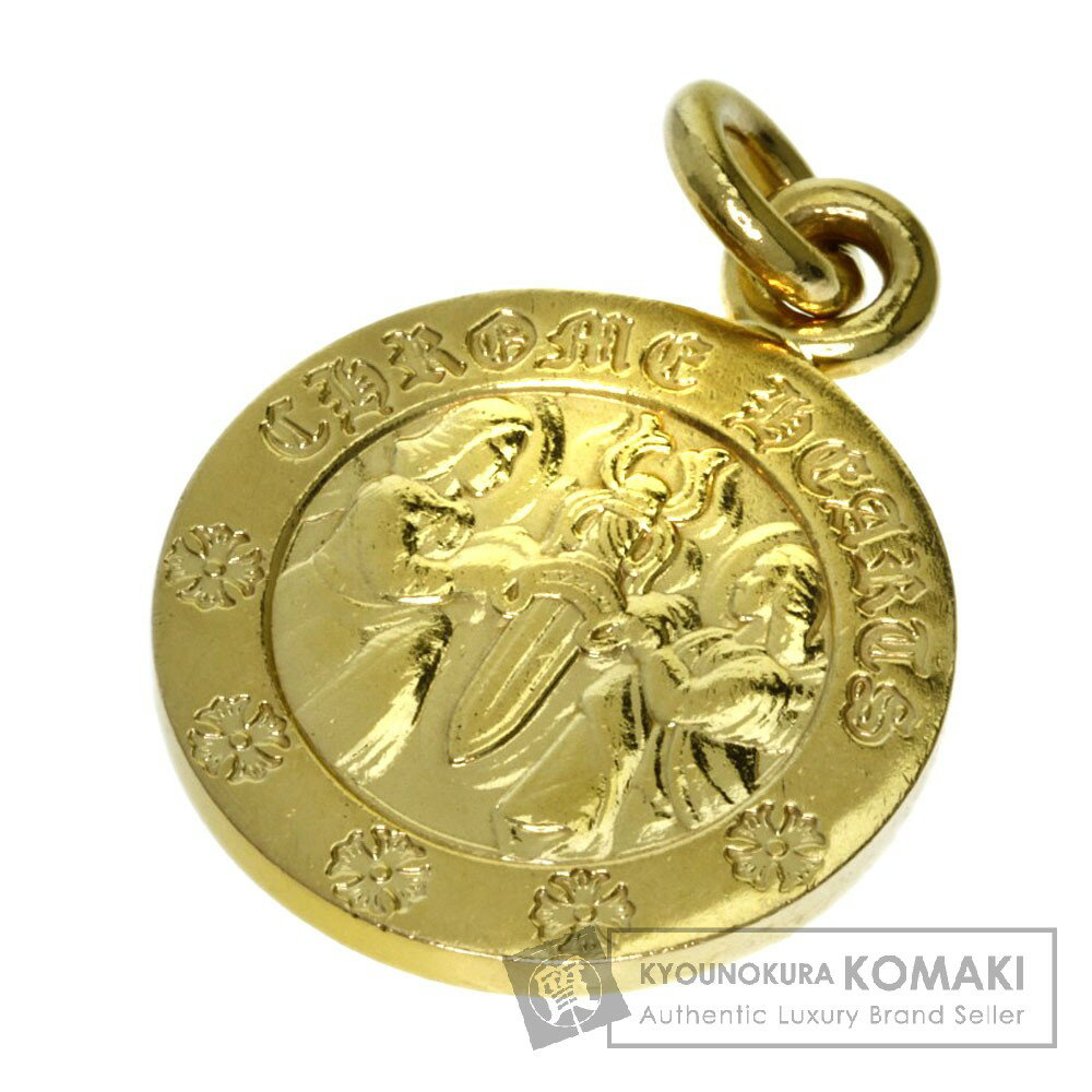 CHROME HEARTS エンジェルメダルチャーム ペンダント K22ゴールド メンズ 【中古】【クロムハーツ】