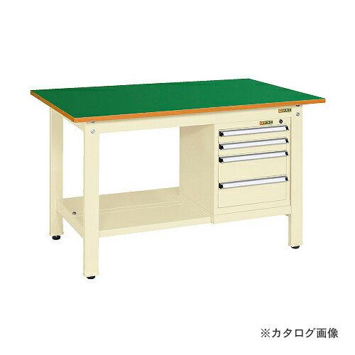 【直送品】サカエ SAKAE 軽量作業台KKタイプ スモールキャビネット付 KK-59FSL4IG