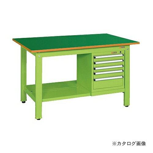【直送品】サカエ SAKAE 軽量作業台KKタイプ スモールキャビネット付 KK-49FSL5