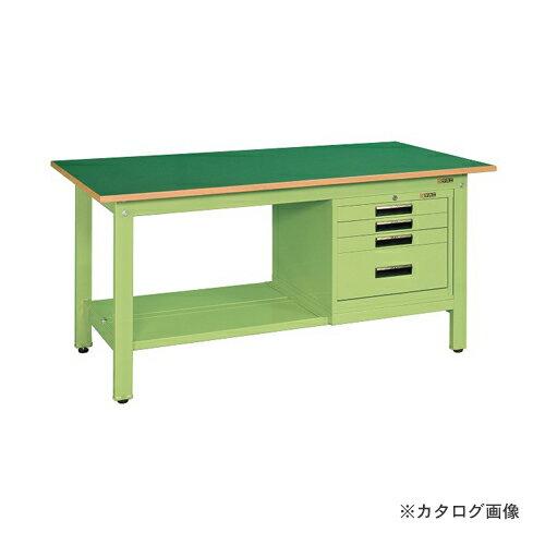 【直送品】サカエ SAKAE 軽量作業台KKタイプ SVEキャビネット付 KK-49FSVE4