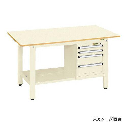 【直送品】サカエ SAKAE 軽量作業台KKタイプ スモールキャビネット付 KK-69PSL4I