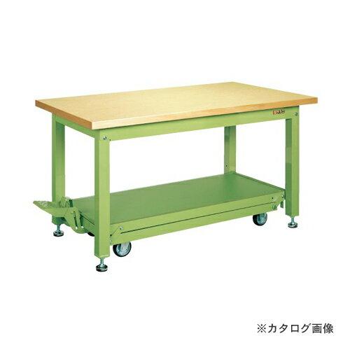 【直送品】サカエ SAKAE 重量作業台KWCタイプ・ペダル昇降移動式 KWCG-189