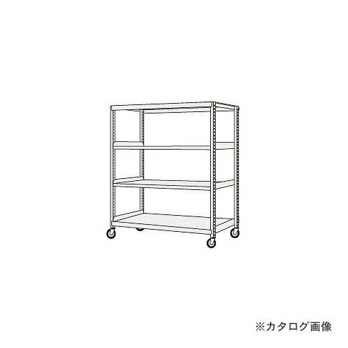 【運賃見積り】【直送品】サカエ SAKAE 中軽量キャスターラック NSR-8544GGK