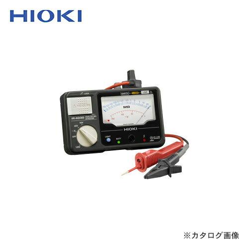 日置電機 HIOKI 絶縁抵抗計 3レンジ アナログメグオームハイテスタ (スイッチ付リード付) IR4030-11