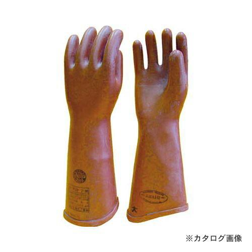 ワタベ 高圧ゴム手袋410mm大 510-L