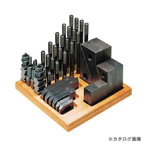 【運賃見積り】【直送品】スーパーツール ステップクランプキット(M16、T溝巾18) 1816-CK