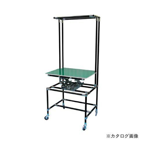 運賃見積り 直送品 スペーシア セル作業台テーブル昇降機付SPDーTー3B 静電黒色仕様 SPD-T-3B