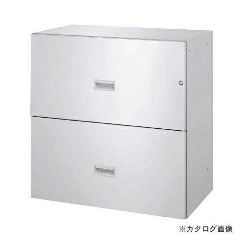 運賃見積り 直送品 TRUSCO SUS304保管庫 2段引出型 900X500XH900 TSD2-09