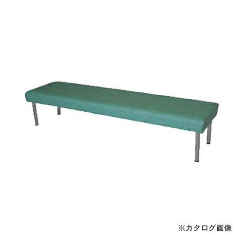 運賃見積り 直送品 ミズノ ロビーチェア 背無し 緑 MC-728:GN