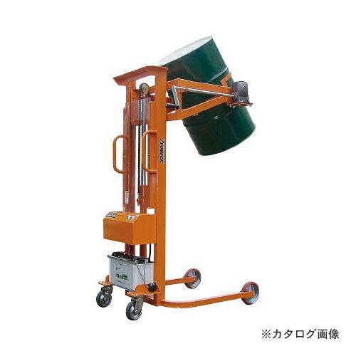 運賃見積り 直送品 KSK ハンドドラムリフト(電動油圧) LMDD350-24