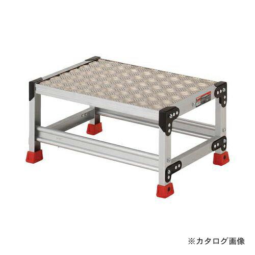 個別送料1000円 直送品 TRUSCO 作業用踏台 アルミ製・縞板タイプ 天板寸法600X400XH300 TSFC-163