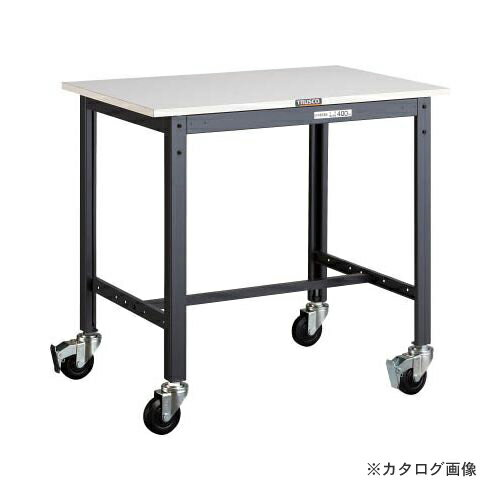 運賃見積り 直送品 TRUSCO LEWP型作業台 900X600 φ100キャスター付 LEWP-0960C100