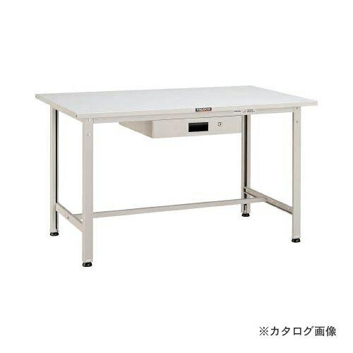 運賃見積り 直送品 TRUSCO SAE型作業台 900X600XH740 薄型1段引出付 W色 SAE-0960UDK1 W