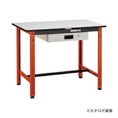 運賃見積り 直送品 TRUSCO TFAEL型作業台 薄型1段引出付 900X600XH740 TFAEL-0960UDK1