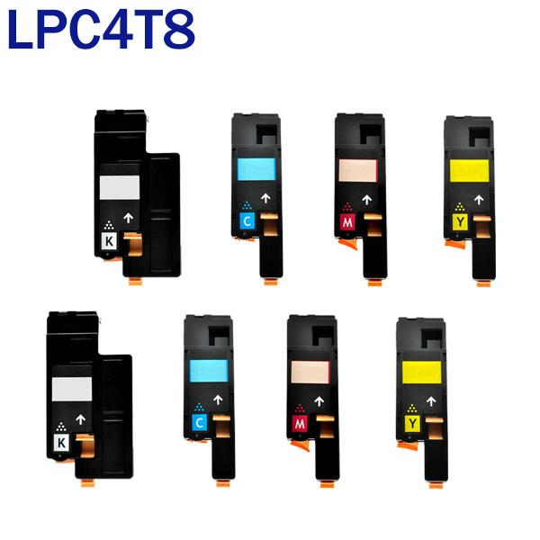 LPC4T8 4色セット×2 互換トナー EPSON エプソン K/C/M/Y 汎用 トナーカートリッジ LP-M620F LP-M620FC3 LP-M620FC9 LP-S520 LP-S520C3 LP-S520C9 LP-S620 LP-S620C9 送料無料 あす楽対応