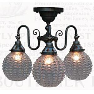 サンヨウ アンティーク照明3灯シーリングランプ FC-125A3 324
