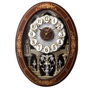 【送料無料】 リズム時計 電波からくり時計 スモールワールドレガロ 4MN546RH06