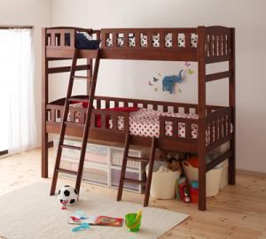 収納ができる天然木分割式2段ベッド 【Pacio】 パシオ   2段ベッド 2段ベット 木製 (代引不可)